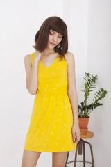 Vestido Hilla amarillo espalda abierta