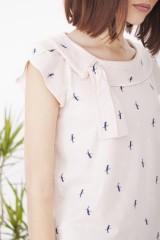 Pink Hipsa short sleeve bird printed Tshirt