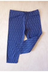 Dark blue arrow print leggins