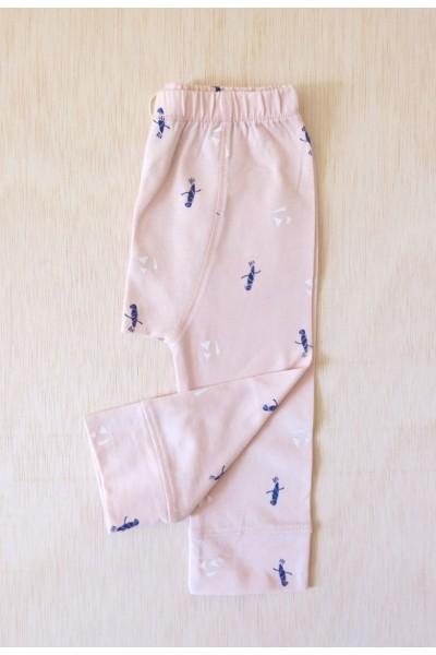 Pink printed babe pant