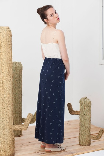 Blue Marina Maxi printed skirt.