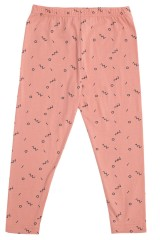 Legging rosa con estampado abstracto