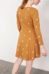 Vestido media capa Lorianne mostaza