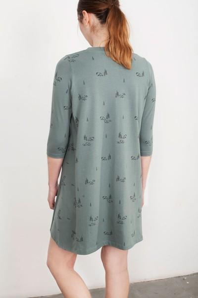 Vestido oversize Laura verde estampado