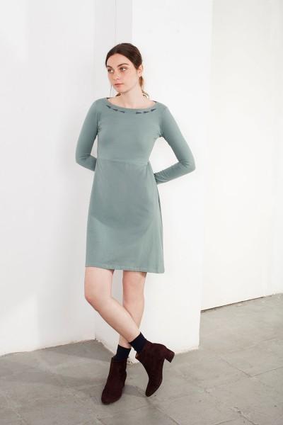 Vestido bordado Lucy verde