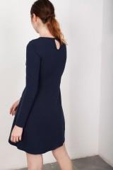 Vestido lazo Lilly azul marino