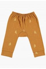 Pantalones de bebé mostaza estampado arboles