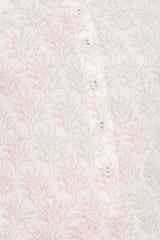 Vestido ecológico Mónica media capa estampado corales de algodón orgánico