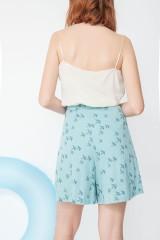 Short Mandy con bolsillos y estampado golondrinas