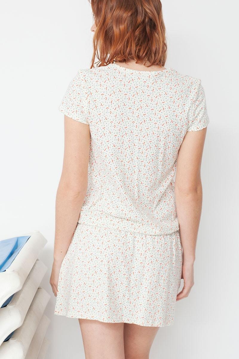 Vestido Marga con cinturón y estampado geométrico
