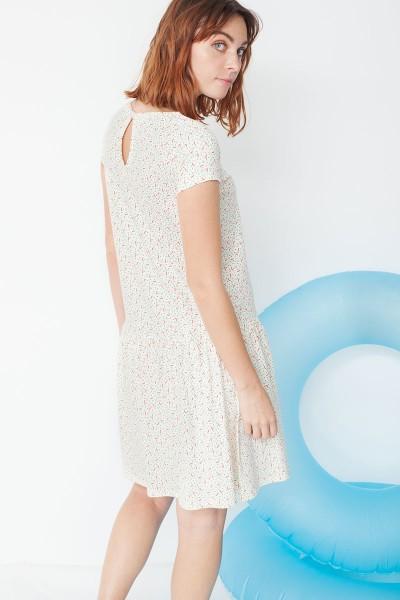 Vestido ecológico Miranda tipo charlestón en estampado geométrico