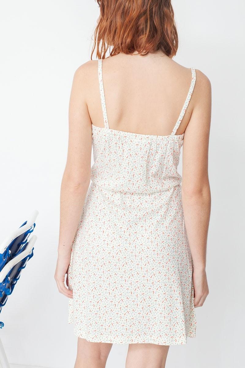 Vestido de tirantes Marisa con estampado geométrico