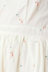 Vestido ecológico Moira de manga corta con botones traseros y estampado nadadoras