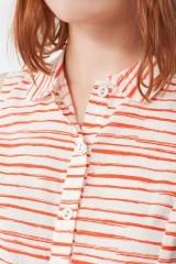 Vestido Mimi con cuello camisero y estampado de rayas marineras
