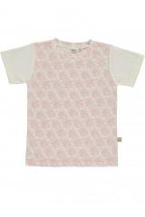 Camiseta unisex salmón con estampado de corales