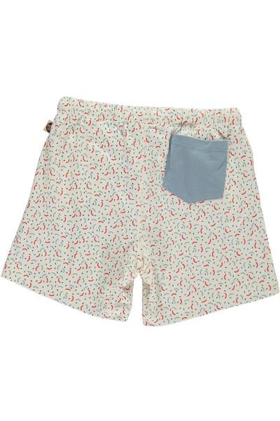 Short con bolsillo combinado estampado geométrico
