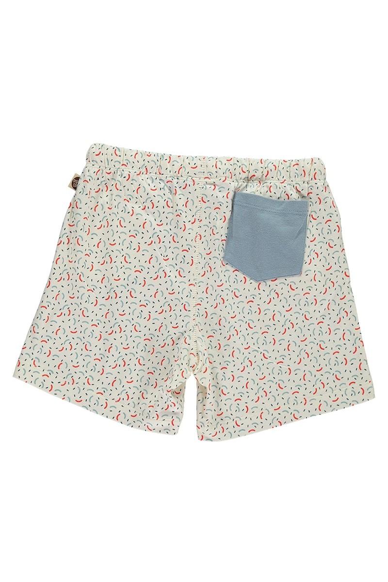Short ecológico con bolsillo combinado estampado geométrico