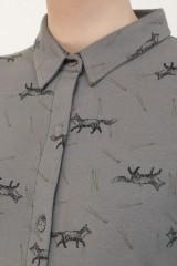 Vestido camisero charlestón Nelly estampado zorros.