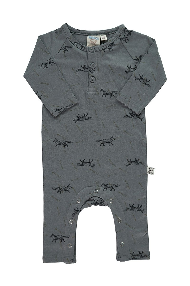 Mono manga larga color gris