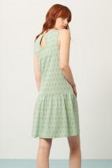 Vestido Charlestón Penélope verde estampado abstracto