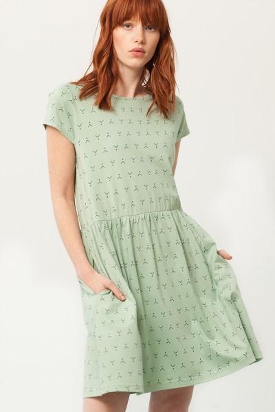Vestido Paris oversize verde menta estampado abstracto