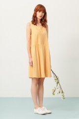 Priscila oversized dress in yellow and japanese print