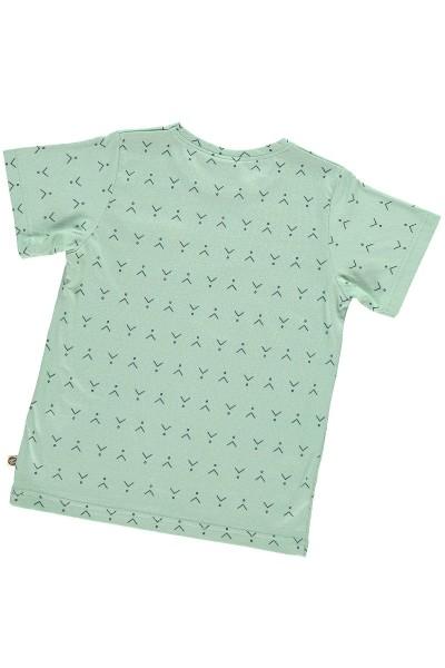 Camiseta unisex verde menta estampado abstracto