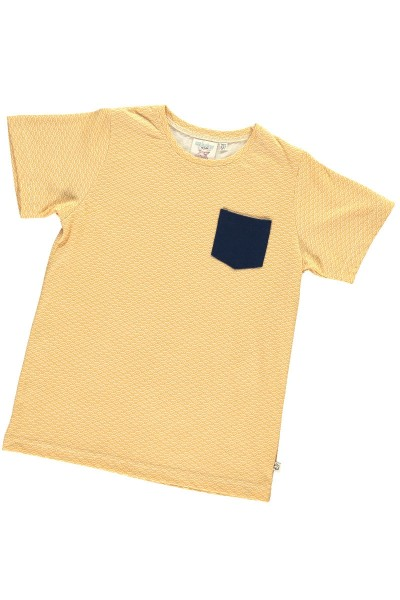 Camiseta unisex color miel estampado japonés