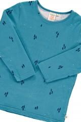 "Camiseta manga larga azul ópalo con estampado de ""Observando las estrellas"""