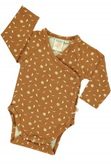 Baby Body kimono in mustard and moon phases print