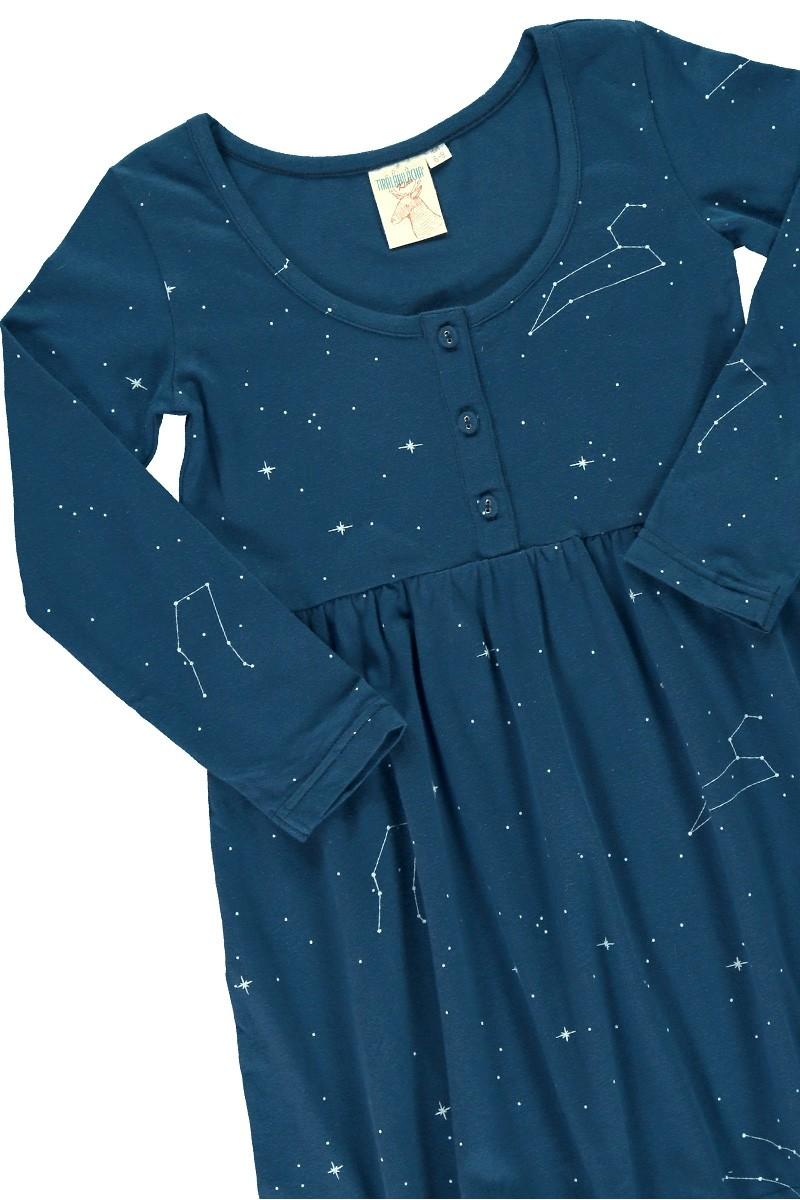 """Vestido """"Clasic"""" azul marino estampado constelaciones"""