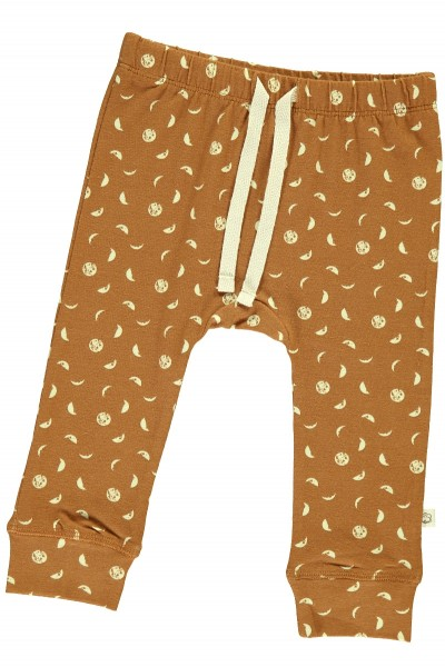 Baby pant in mustard and moon phases print