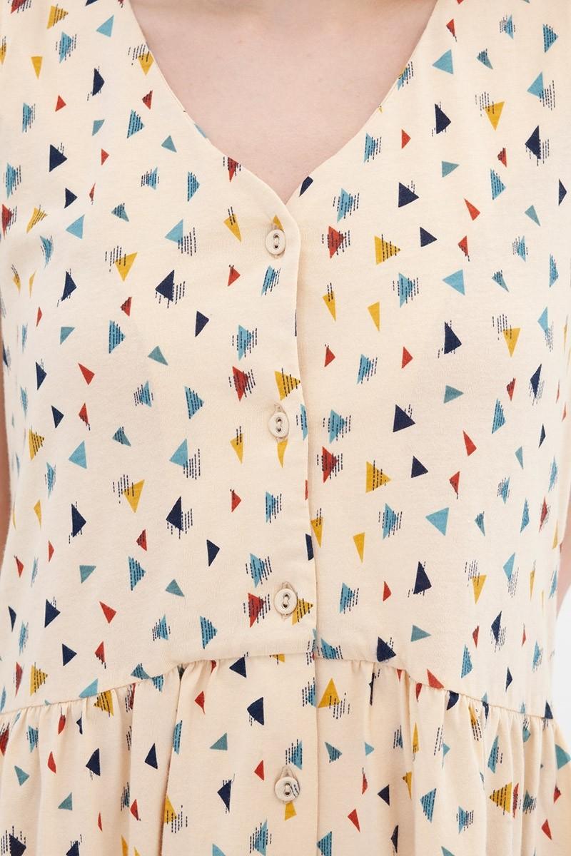 Vestido holgado triángulos Ana