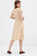 Vestido media capa abstract print Ara