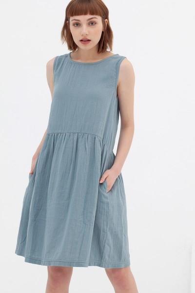 Vestido reversible azul vintage Ágata