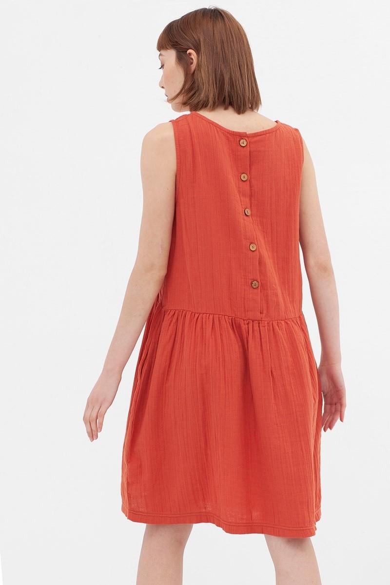 Vestido reversible teja Ágata