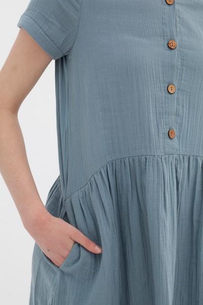 Vestido manga corta teja Almudena