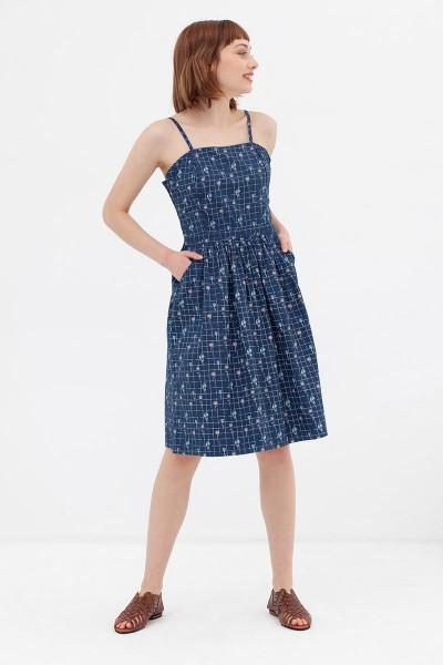 Vestido tirantes azul vintage Ada