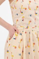 Vestido tirantes abstract print Ada