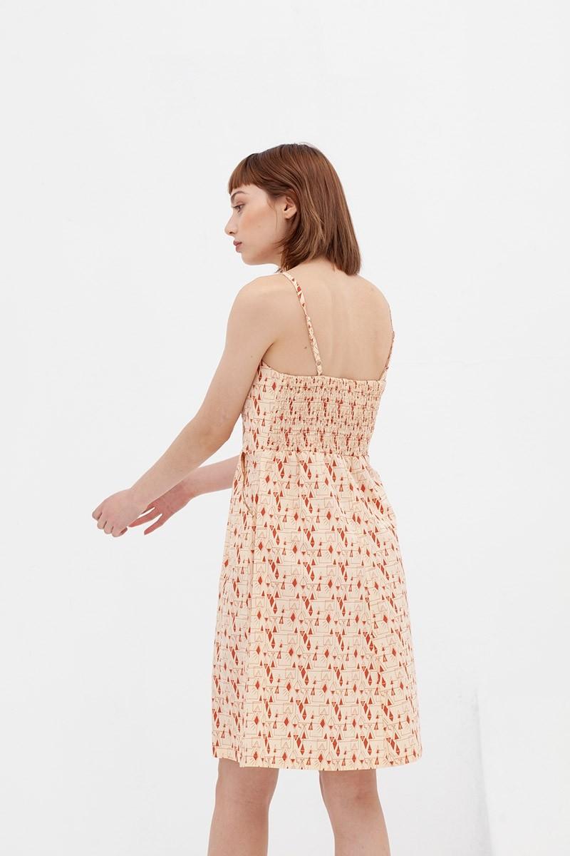 Vestido tapeta teja Ainara