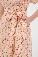 vestido corte japonés abstracto Amaya