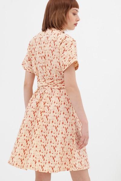 vestido corte japonés teja Amaya