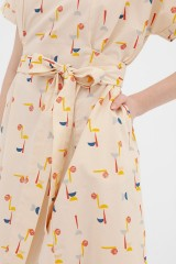 vestido corte japonés abstract print Amaya