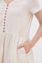 Vestido botones crudo Anne