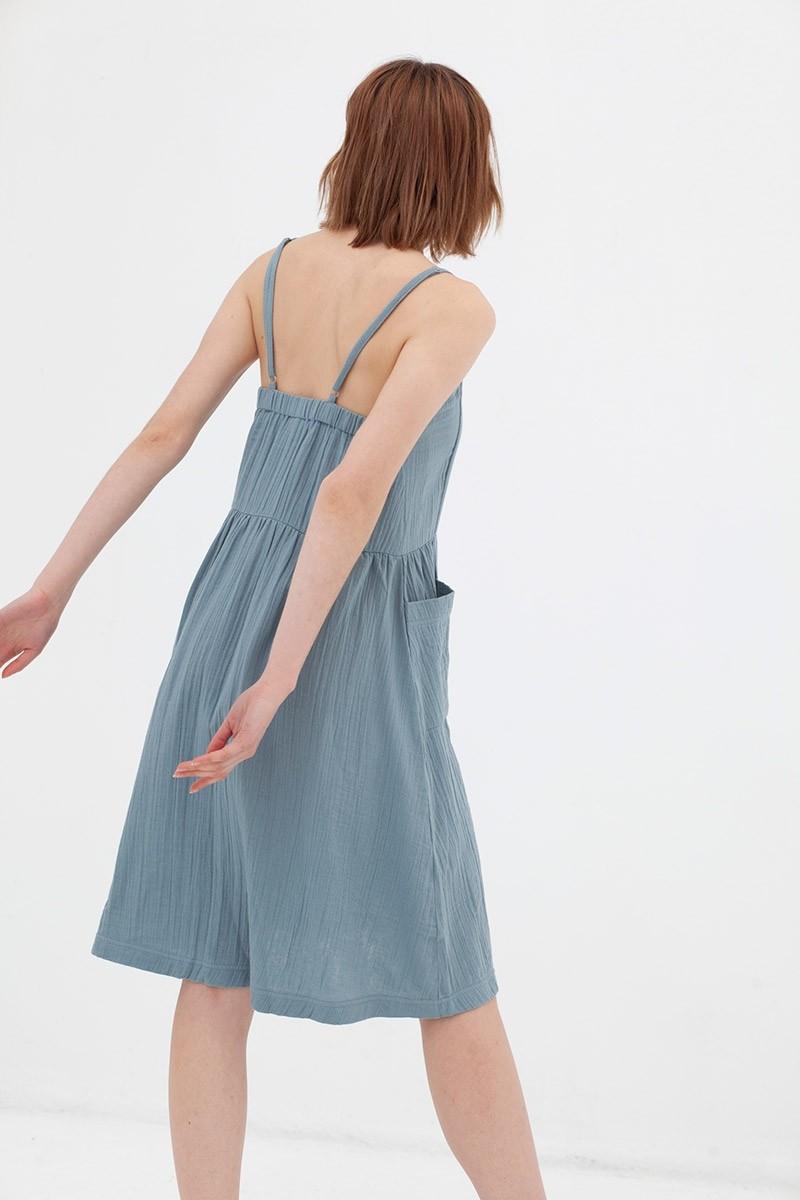 Vestido middi mostaza Alba