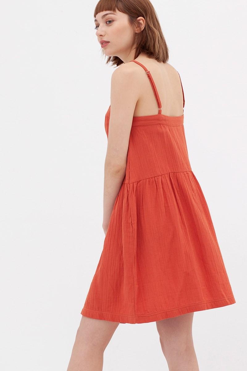 Vestido charlestón teja Ámbar