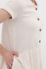 Vestido manga corta mostaza Almudena