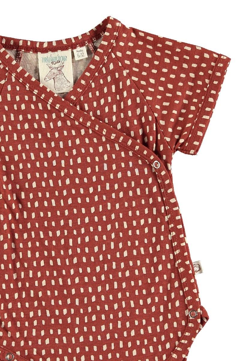 Body kimono abstracto colore teja
