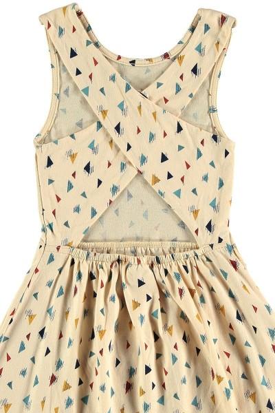 Vestido cruzado triángulos