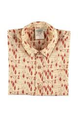 Camisa popelín estampado geométrico